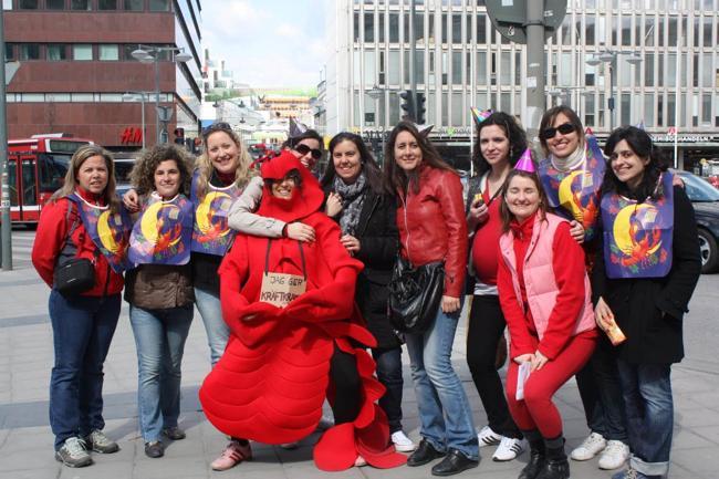 chicas en despedida disfrazadas en Madrid