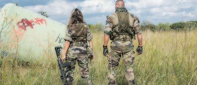 pareja de marines americanos
