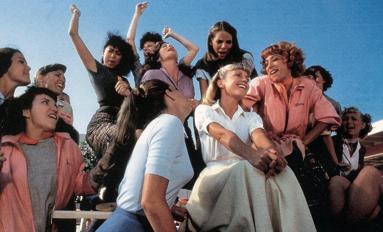 Las chicas Grease y las Pink Ladies