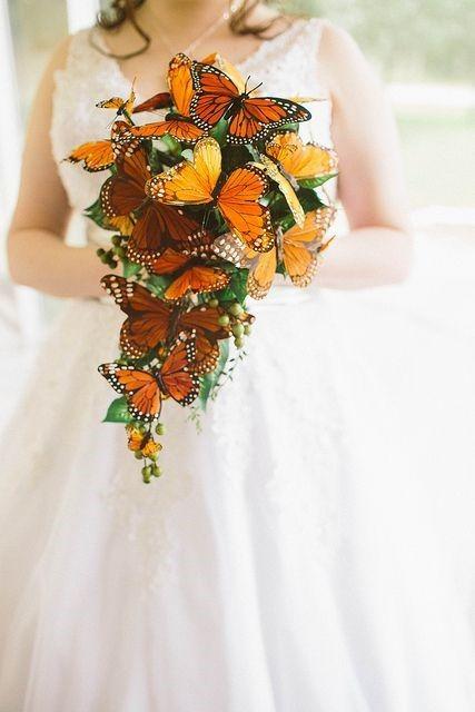 ramos de novias de mariposas